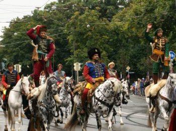 Kroaten zu Pferd, Trachten- und Schützenzug 2017 München