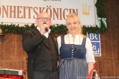 Jürgen Kirner und Johanna Bittenbinder, Schönheitskönigin 11. Tag auf der Oidn Wiesn am Oktoberfest in München 2018