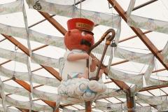 Hofbräu Festzelt, Aufbau Oktoberfest auf der Theresienwiese in München 2018