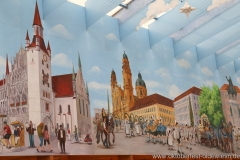 Hacker Festzelt, Aufbau Oktoberfest auf der Theresienwiese in München 2018