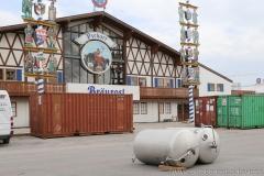 Bräurosl, Aufbau Oktoberfest auf der Theresienwiese in München 2018