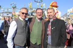 Josef Able, Bernhard Klier,  Werner Hochreiter (von li. nach re.), Oktoberfest Presserundgang über die Theresienwiese in München  2019