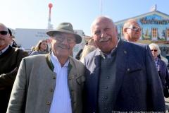 Otto Seidl und Manfred Zehle (re.), Oktoberfest Presserundgang über die Theresienwiese in München  2019