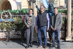 Markus Heitmann (Mitte) mit Familie, Oktoberfest Presserundgang über die Theresienwiese in München  2019