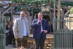 Stephan Kuffler und Clemens Baumgärtner (re.), Oktoberfest Presserundgang über die Theresienwiese in München  2019