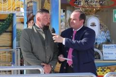Egon Kaiser und Clemens Baumgärtner (re.), Oktoberfest Presserundgang über die Theresienwiese in München  2019