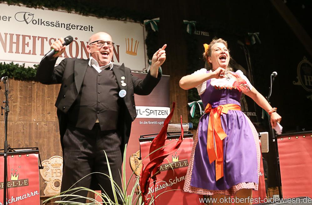 Jürgen Kirner und Constanze Lindner, Schönheitskönigin 16. Tag auf der Oidn Wiesn am Oktoberfest in München 2018