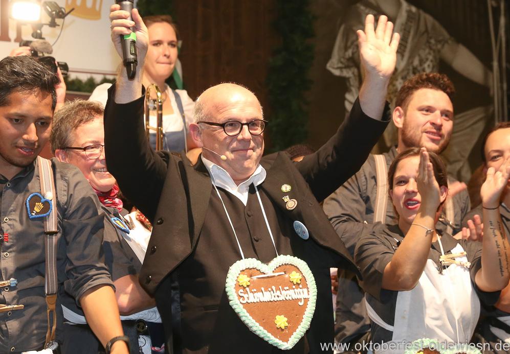 Jürgen Kirner, Finale in der Schönheitskönigin auf der Oidn Wiesn am Oktoberfest in München 2018
