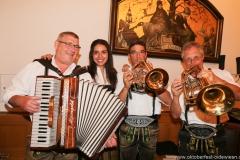 Hinterberger Musikanten und Ramona Pongratz, Wiesnbierprobe in der Ratstrinkstube im Rathaus in München 2018