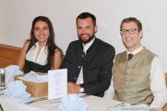 Ramona Pongratz (li.), Ludwig  Reinbold (re.), Wiesnbierprobe in der Ratstrinkstube im Rathaus in München 2018