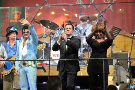 Elvis, Tina Turner und Falco auf der Wiesn Quelle Foto Kulturmarketing München
