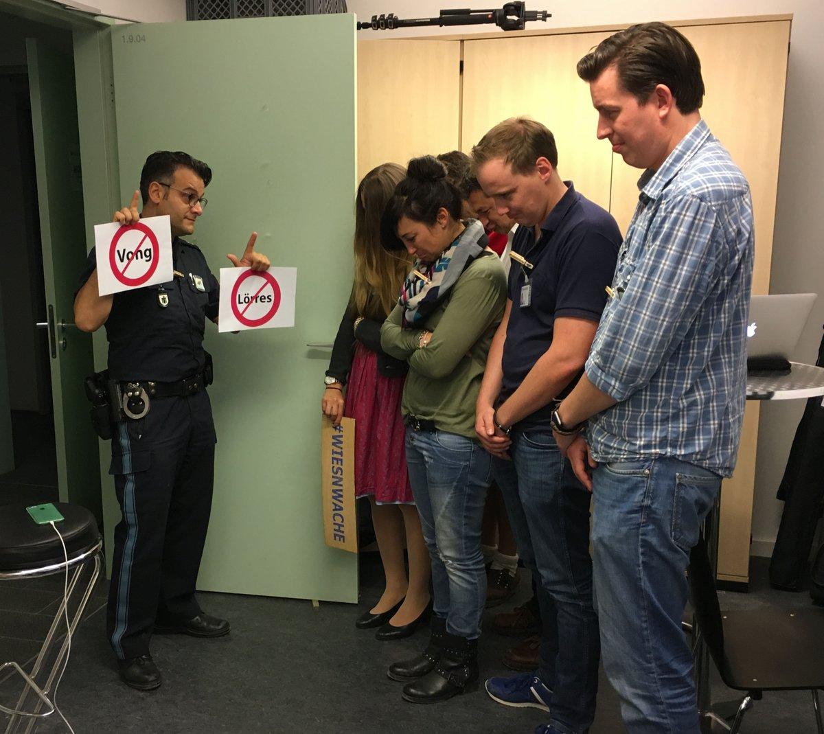 Wiesnwache Sozial Media Crew erhält Rüffel vom Chef Quelle Foto Polizei München